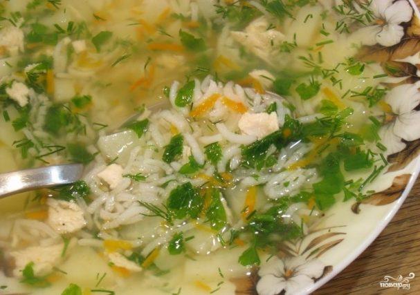 Вкусный рисовый суп со свининой
