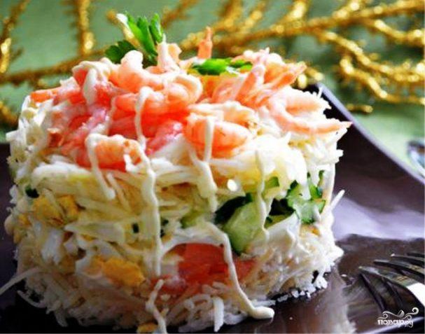 Салат с фасолью постный