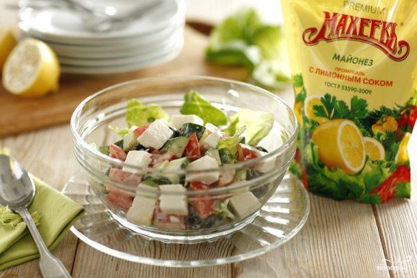Летний салат по-гречески