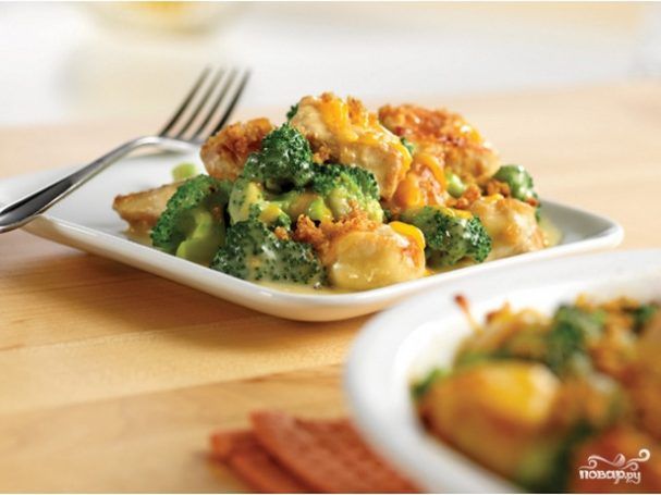 рецепт приготовления замороженной брокколи в духовке с сыром и сметаной