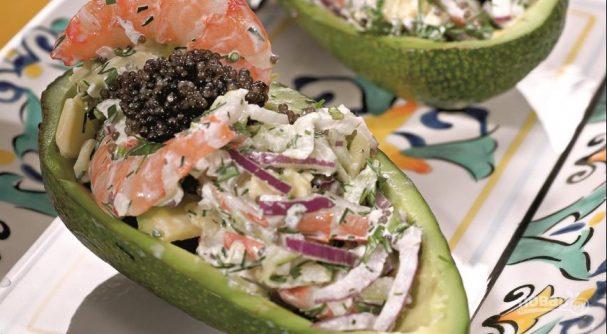 Салат с рыбной икрой