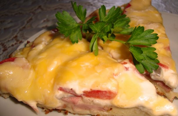 Пицца в сковороде