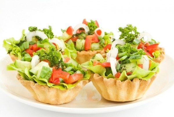 Тарталетки с овощами