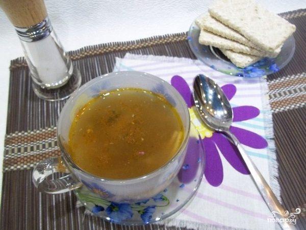 Рыбный суп из кильки в томатном соусе