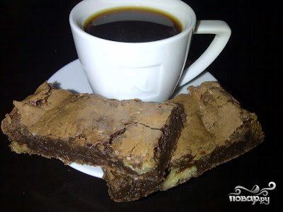 Брауни с черным шоколадом