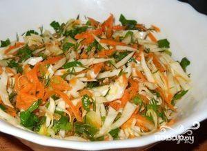 Капуста с морковью и уксусом