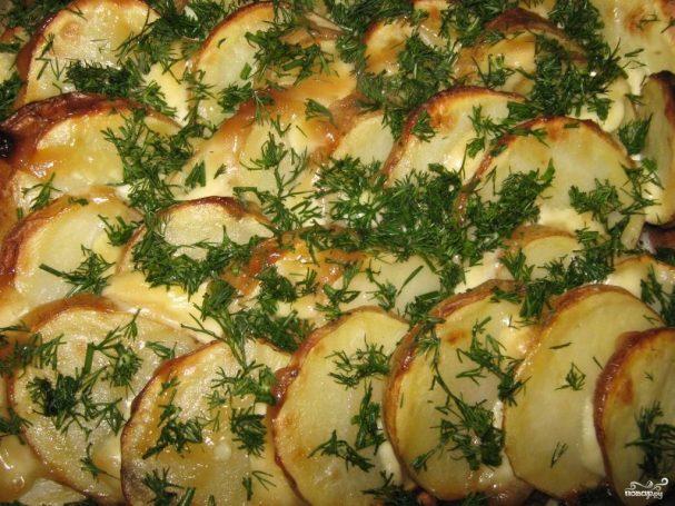 Картофель в духовке с майонезом