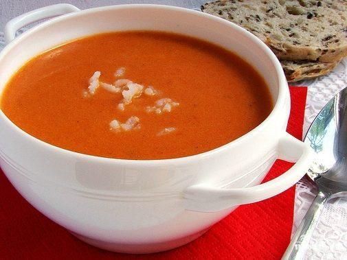 Томатный суп пюре с рисом