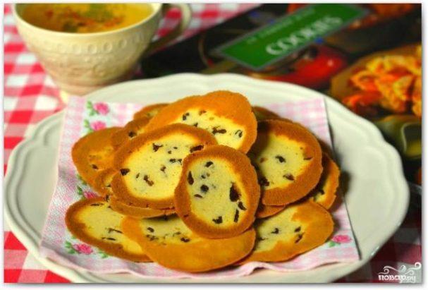 Печенье с ромом и изюмом