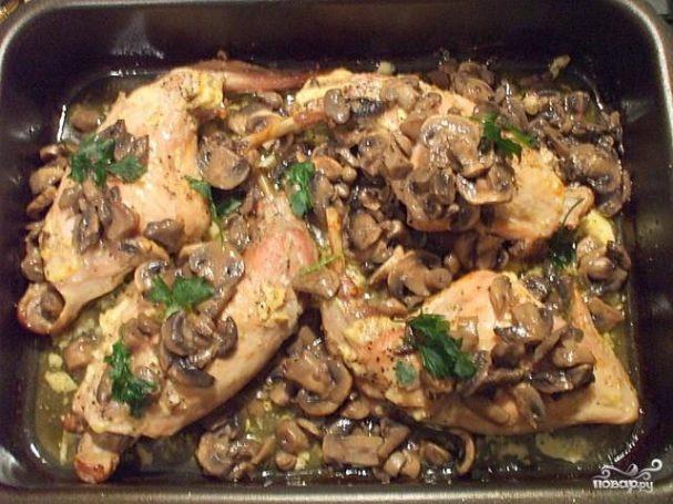 Кролик с грибами рецепты