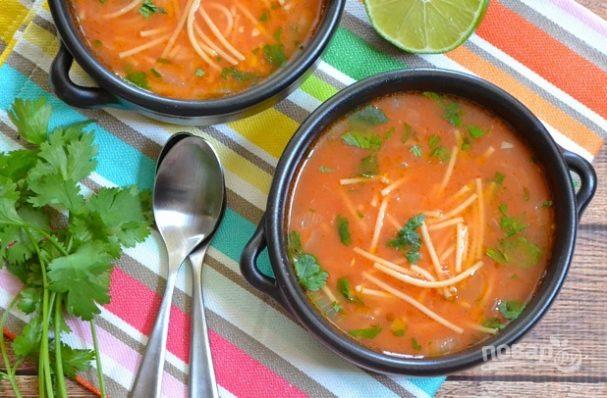 Суп овощной с вермишелью