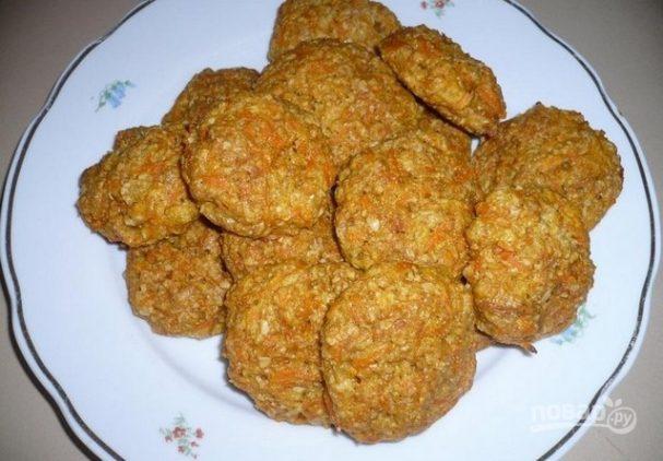 Постное морковно-овсяное печенье