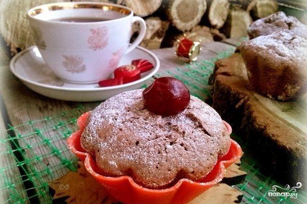 Кексы из бисквитного теста с начинкой