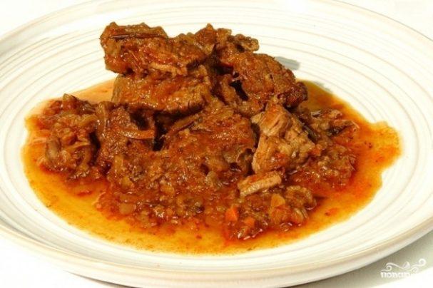 пошаговый рецепт с фото гуляш из говядины с подливкой