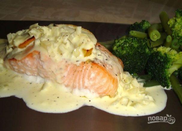 Сливочный соус для лосося