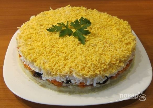 Салат из печени трески (рецепт)