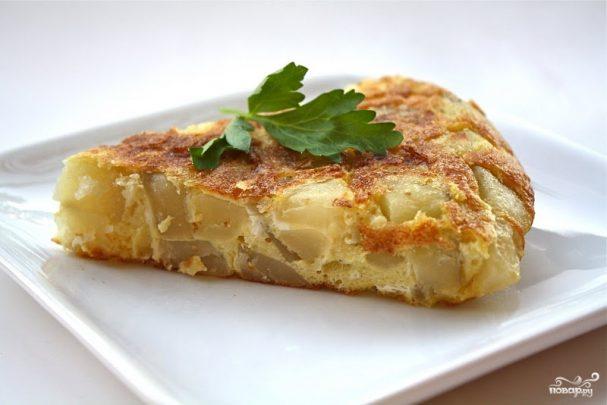 Омлет с картошкой в духовке