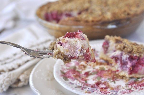 Пирог со сметаной и яйцом
