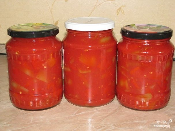 Лечо из помидоров