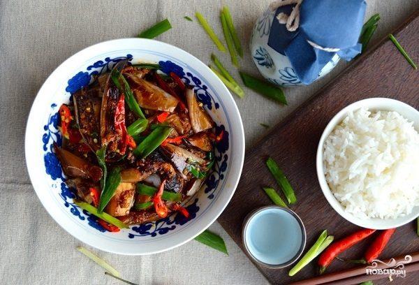 Жареные баклажаны по-китайски
