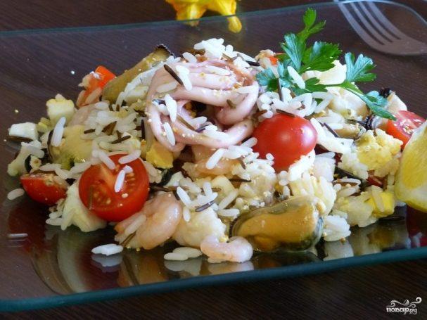 Салат из морепродуктов Для любимого