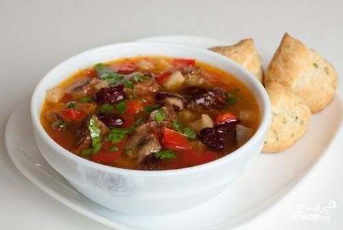 Острый суп с фасолью