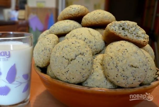 Овсяное печенье с маком