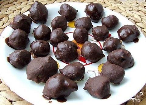 Заварное печенье в шоколаде