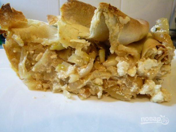 Греческий лук с мягким сыром