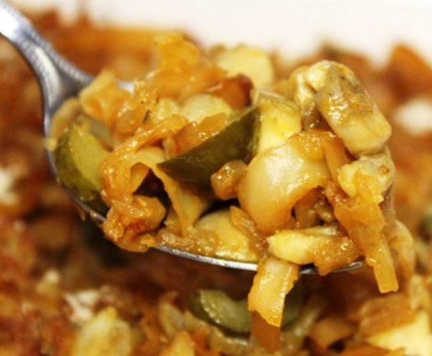 Капустная солянка с грибами