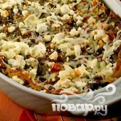 Лазанья с артишоком и  шпинатом