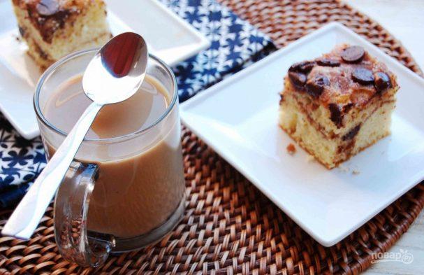 Кекс с шоколадом на сметане