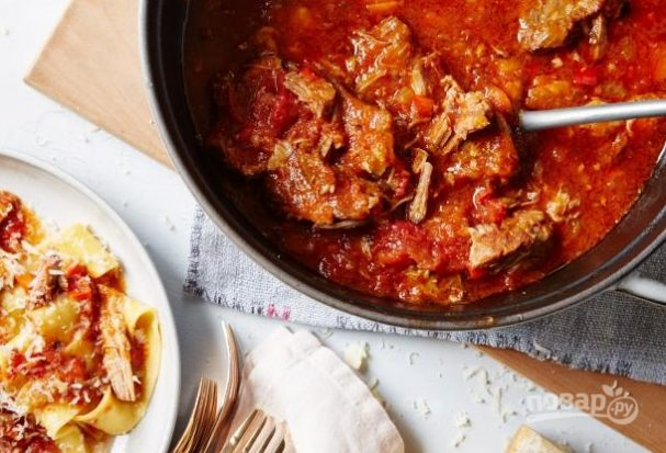 свиное рагу на косточке рецепт в духовке