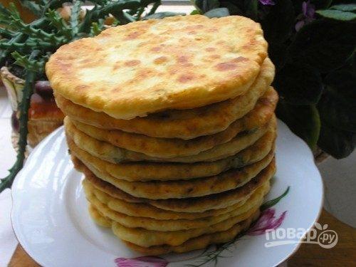 Тесто на кефире для лепешек на сковороде