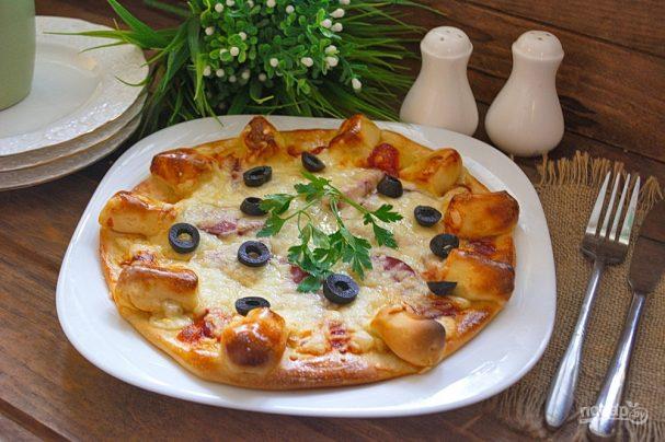 Пицца с сырными булочками