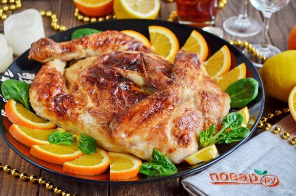 Праздничная фаршированная курица