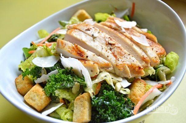 рецепты салата цезарь на повр ру
