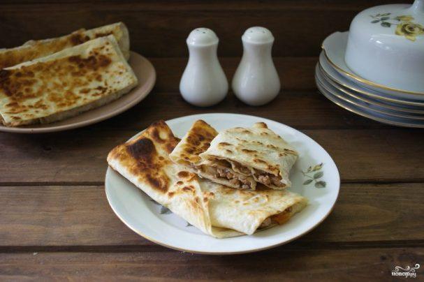 Пирожки из лаваша с мясом