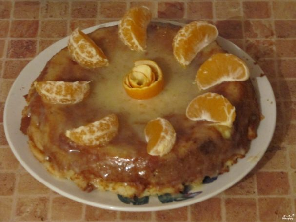 Шарлотка с апельсинами