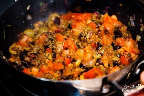 Баклажаны с овощами на зиму