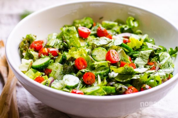 Овощной салат на быструю руку