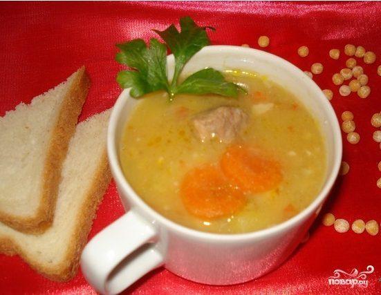 Гороховый суп с мясом в мультиварке