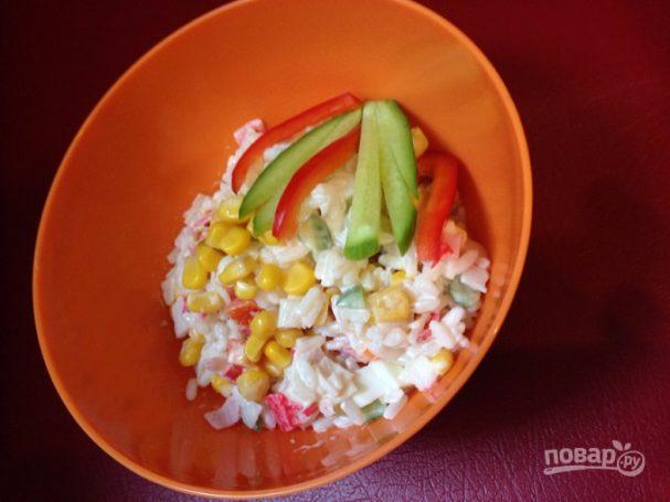Крабовый салат обычный