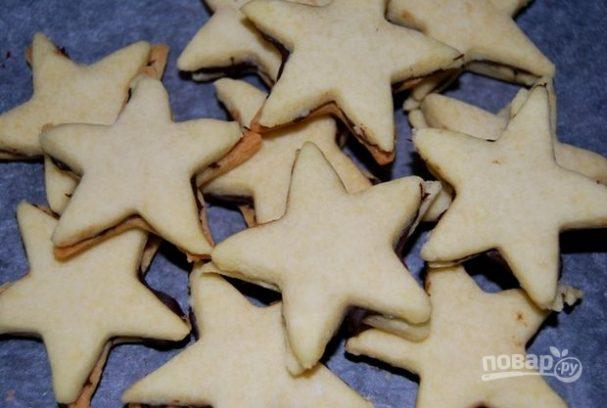 """Песочное печенье """"Звездочки"""" (пошаговый рецепт)"""