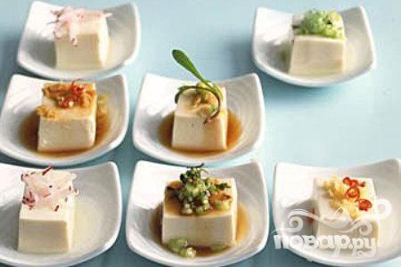 Тофу с овощами и соусом по-азиатски