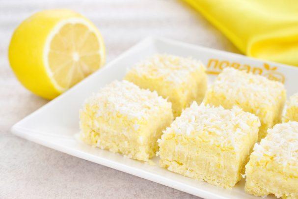 Лимонно-кокосовые квадратики