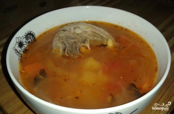 Суп из баранины с помидорами