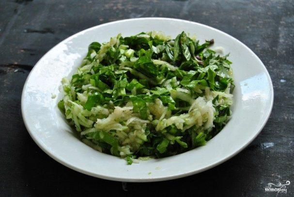 Тайский салат с дайконом