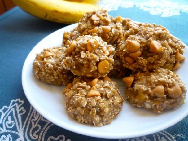 Печенье из банана исяных хлопьев 186