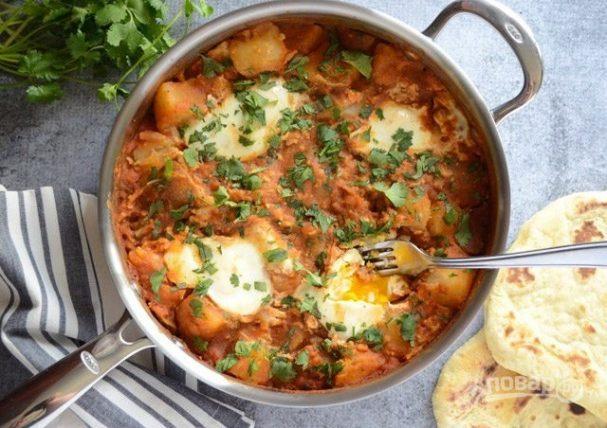 Картофель с яйцами